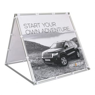 Outdoor Banner with Aluminium Frame 100x100